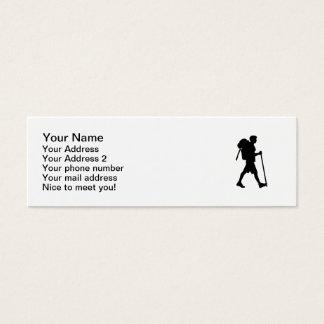 Hiking stick backpack mini business card