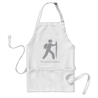 Hiking....the cure to boredom adult apron
