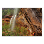 Hiking The Emerald Pools Trail in Zion National Greeting Card
