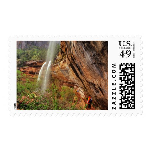 Hiking The Emerald Pools Trail in Zion National Stamp