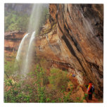 Hiking The Emerald Pools Trail in Zion National Ceramic Tile