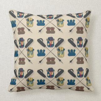 Hiking Themed Throw Pillow