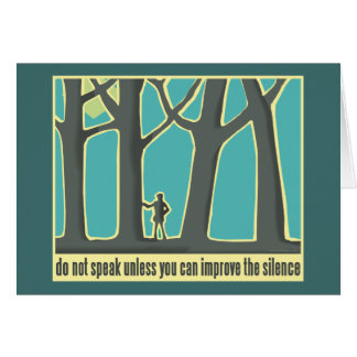 Hiking through Forest Trees Card
