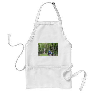 Hiking through trees, Torres del Paine Park, Chile Adult Apron