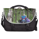 Hiking through trees, Torres del Paine Park, Chile Laptop Messenger Bag