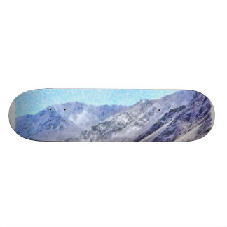 Hiking to the top skateboard