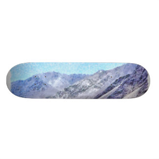 Hiking to the top skateboard deck