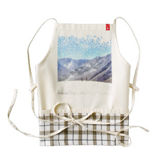 Hiking to the top zazzle HEART apron
