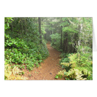 Hiking Trail Greeting Card with John Muir Quote