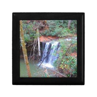 Hiking Trail Waterfall Keepsake Boxes