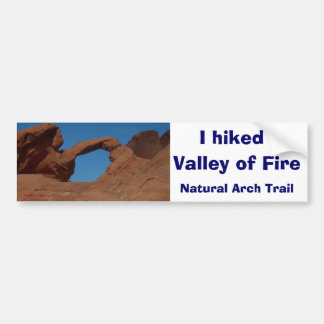 Hiking Valley of Fire Bumper Stickers