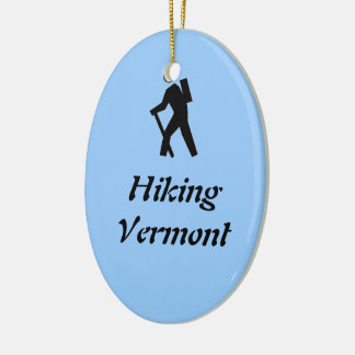 Hiking Vermont Ceramic Ornament