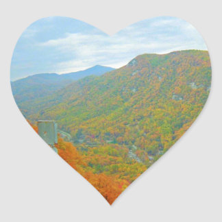 Hiking Way Up In The Mountains Heart Sticker