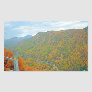Hiking Way Up In The Mountains Rectangular Sticker