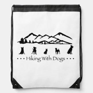 Hiking With Dogs SlingBag Drawstring Bag