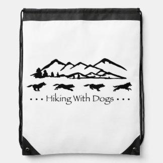 Hiking With Dogs SlingBag-Husky Drawstring Backpack