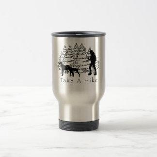 Hiking With Dogs Travel Mug-Ridgeback/Coonhound
