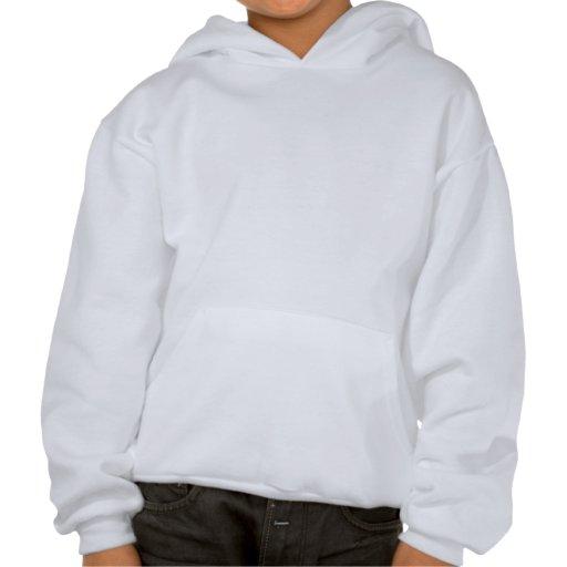 Hilado de giro de la mujer en el mercado de pulgas sudadera pullover