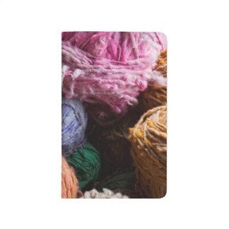 Hilado de lanas de Chiloe teñido con los tintes Cuadernos