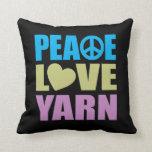 Hilado del amor de la paz almohadas