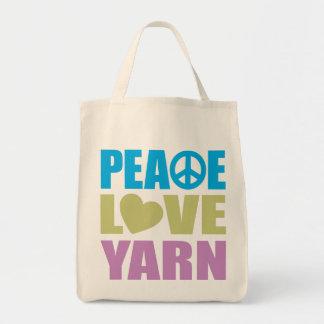 Hilado del amor de la paz bolsas de mano