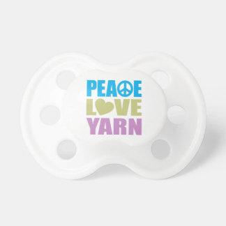 Hilado del amor de la paz chupetes de bebé