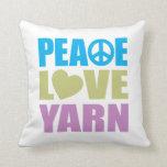 Hilado del amor de la paz cojin