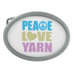 Hilado del amor de la paz hebilla cinturon