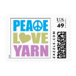 Hilado del amor de la paz sello