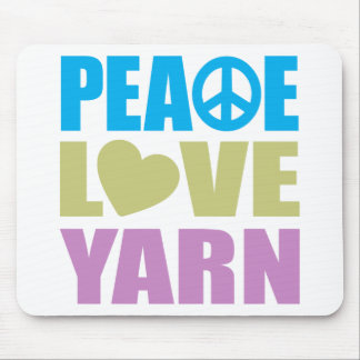 Hilado del amor de la paz tapetes de ratones