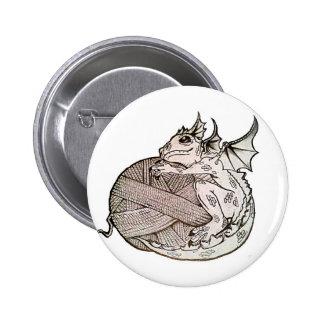 hilado del dragón pin redondo 5 cm