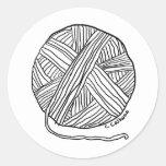 Hilado del o de la bola pegatina redonda