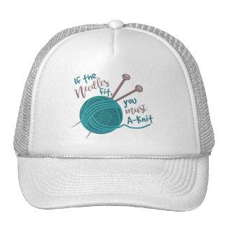 Hilado divertido de las agujas del chiste del gorras de camionero