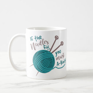 Hilado divertido de las agujas del humor del taza