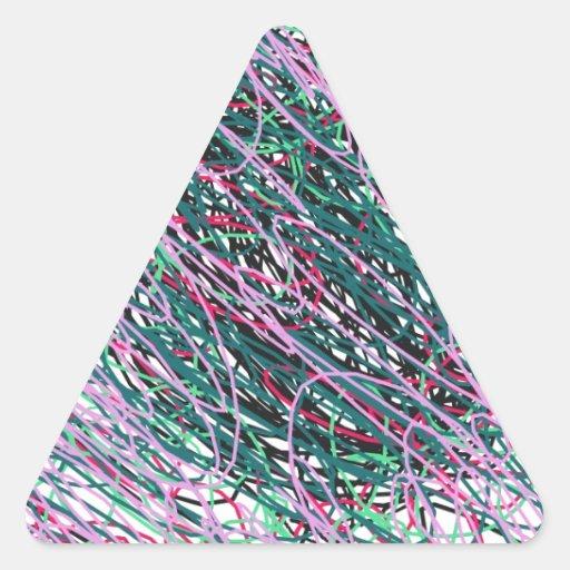 Hilado espástico pegatina triangular