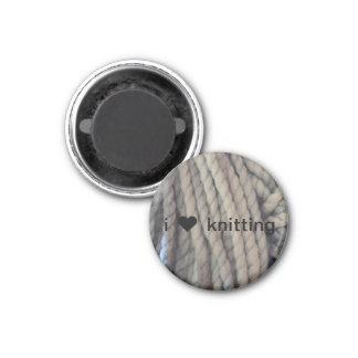Hilado gris imán redondo 3 cm