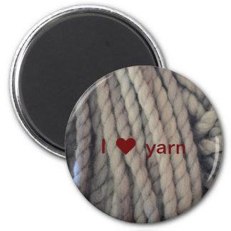 Hilado gris imán redondo 5 cm