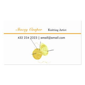 Hilado hecho girar artista que hace punto tarjeta personal