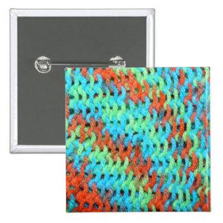 Hilado hecho punto en colores brillantes pin cuadrado