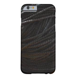 Hilado negro funda para iPhone 6 barely there