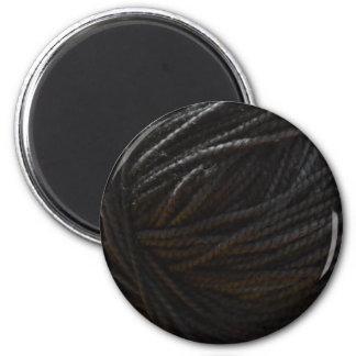 Hilado negro imán redondo 5 cm
