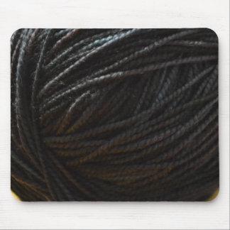Hilado negro tapete de ratón