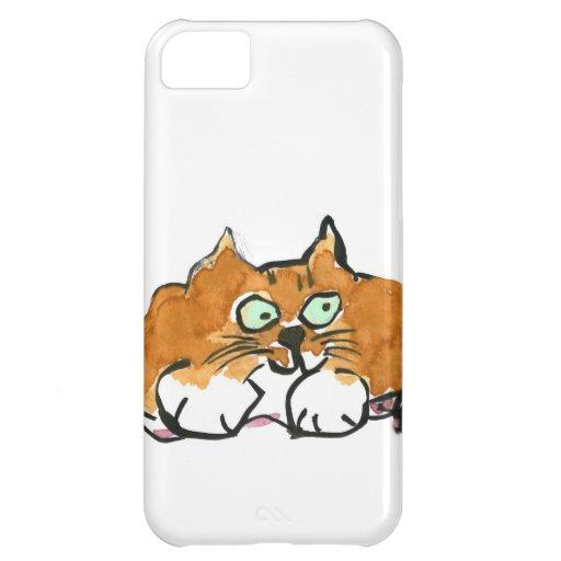 Hilado púrpura y un gato del naranja de Fiesty