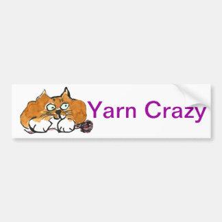 Hilado púrpura y un gato del naranja de Fiesty Pegatina Para Auto