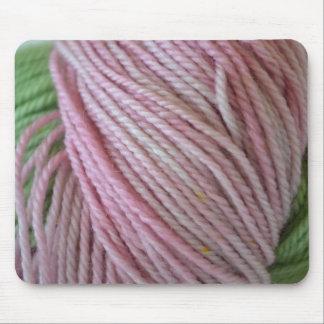 Hilado rosado tapetes de raton