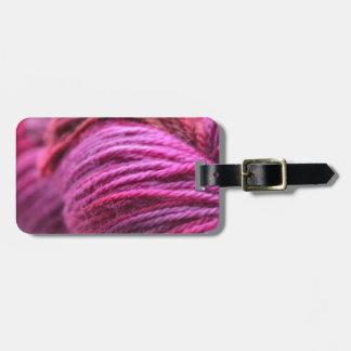 Hilado rosado vibrante etiquetas de equipaje