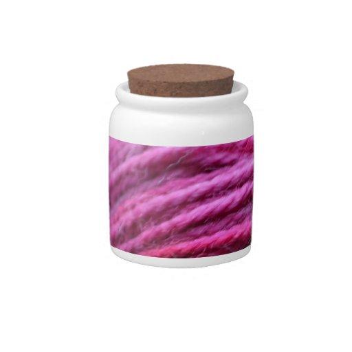 Hilado rosado vibrante jarras para caramelos