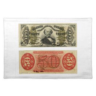 Hilandero de Francisco de la moneda fraccionaria d Mantel Individual