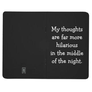 Hilarante en el diario del bolsillo de la noche cuaderno grapado