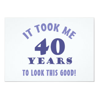 Hilarious 40th Birthday Gag Gifts Card
